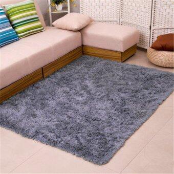 Anti-Skid Shaggy Area Rug Dining Room Home Bedroom Carpet Floor MatFluffy Rugs-Grey