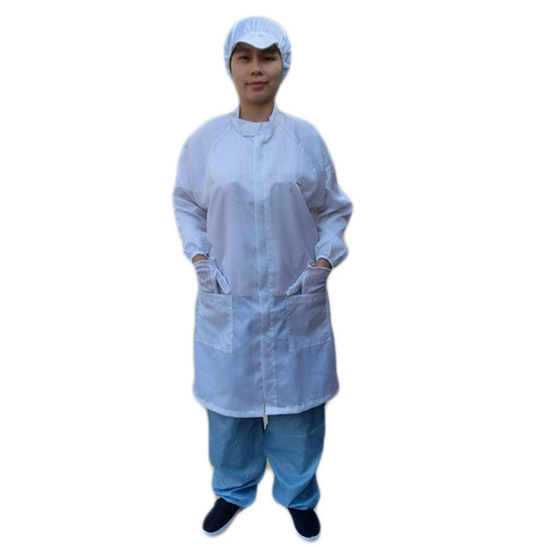 Buy Anti-static clothing coat electronic Food Factory clean dust clothes long-sleeved zip labor overalls clean clothes Malaysia