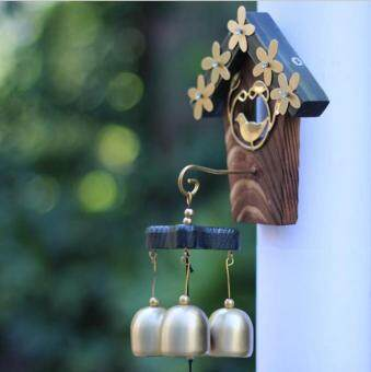 Antique Style Love Nest Shopkeepers Triple Bell Home Door Decoration Wind Chimes