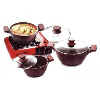are IKAN 6pcs Soup Pot Set Rubby