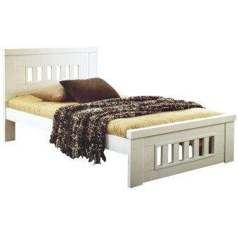 Atop Single Wooden Bed Frame White Single Lazada