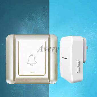 AUG e86 38 Ring Bell Wireless Door bell Button Led Light HomeDoorbells No Battery Waterproof Digital DoorBell