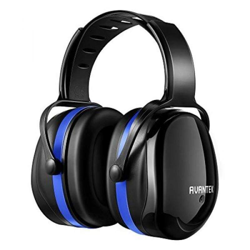 AVANTEK Ear Protection, 34dB Professional Hearing Protection Noise Reduction Safety Ear Muffs, Flexible Twist Headband for Durable and Comfortable Fit