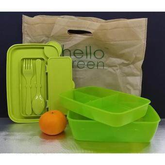 Harga AVON HELLO GREEN LUNCH BOX WITH CUTLERY