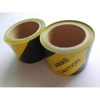 "Harga Awas Caution Tape 3""x40m Yellow and Black"