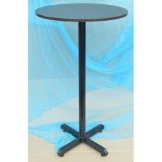 Bar Table Size 60dia X 100H Cm  Walnut Table Top, Metal Leg Malaysia