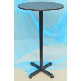 Bar Table size 60dia x 100H cm -Walnut table top, Metal leg