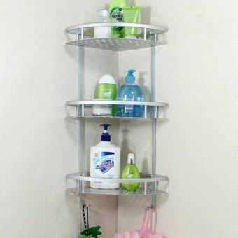 bathroom accessories space aluminum shower caddy wire basket storage shelves