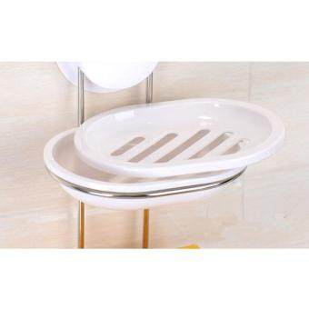 ... Bathroom Soap Dish New Design Plastic And Stainless Steel Double Tier  Bathroom Soap Box Bathroom Accessories ...