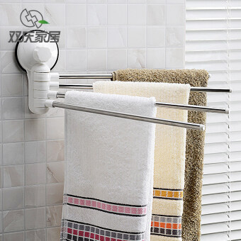 bathroom suction cup hanging towel rack stainless steel towel bar bathroom towel hanging rod towel - Bathroom Accessories Malaysia