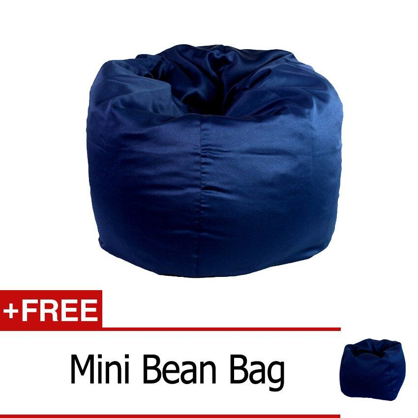 Bean Bag Blue Standard + Free Gift Mini Bean Bag Blue | Lazada Malaysia - Bean Bag Blue Standard + Free Gift Mini Bean Bag Blue Lazada