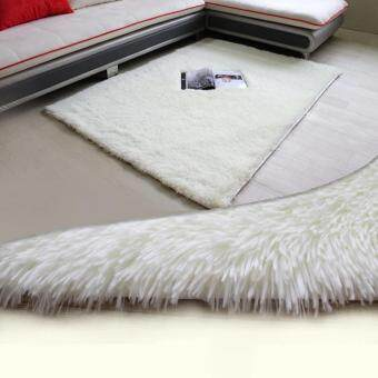 Harga Beau Soft Anti-skid Carpet Flokati Shaggy Mat Rug For Living DiningBedroom Floor Creamy-White