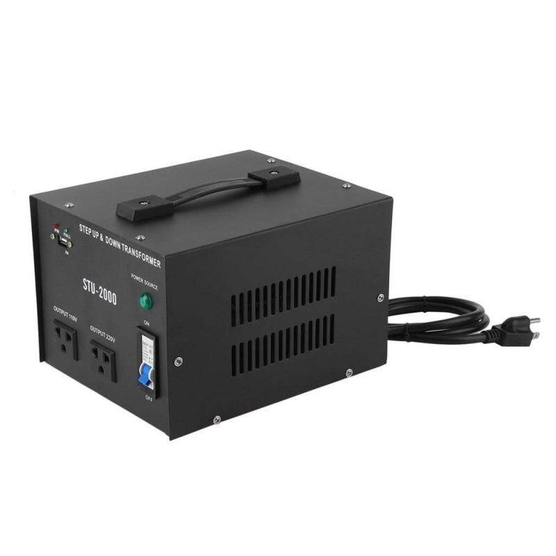 Buy Belle 2000W 110V/220V Electrical Power Voltage Converter With USB Transformer Black black Malaysia