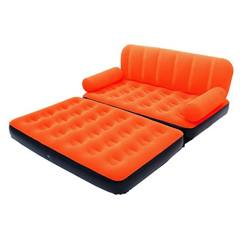 Bestway 5 In 1 Two Seater Couch Settee Air Sofa Double Bed Mattress + AC  Electric Air Pump (Orange) | Lazada Malaysia