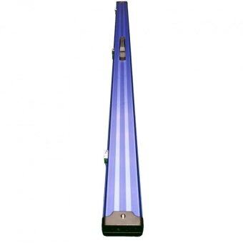 Billiard Snooker Pool Aluminium Two Compartment Cue Case - Blue