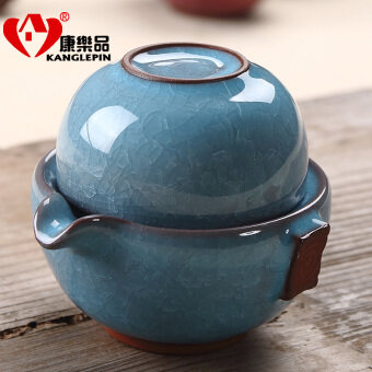 Harga Binglie glaze tea a pot a cup eight color Quik cup portable cuphome teapot cup set