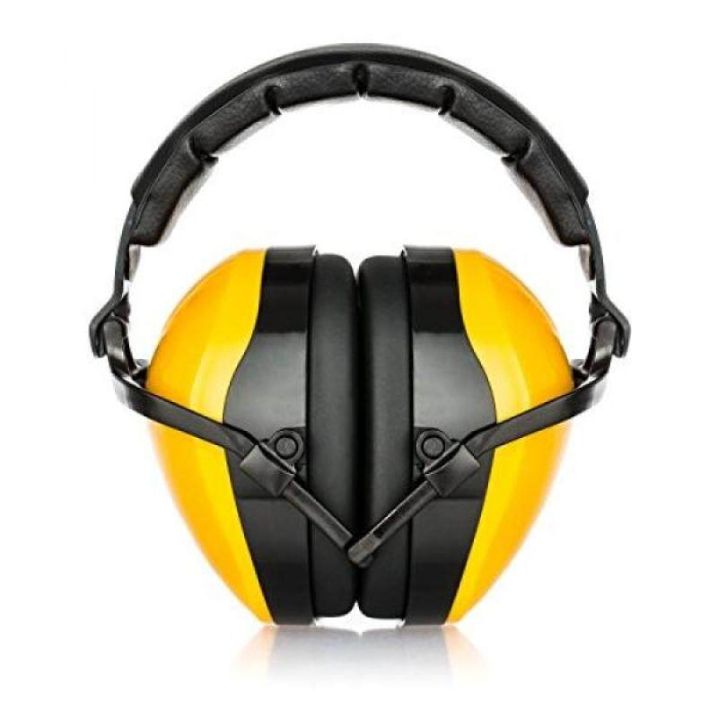 Bisonfield EM-800y Adjustable Padded Headband with Soft PVC Ear Cups - Yellow
