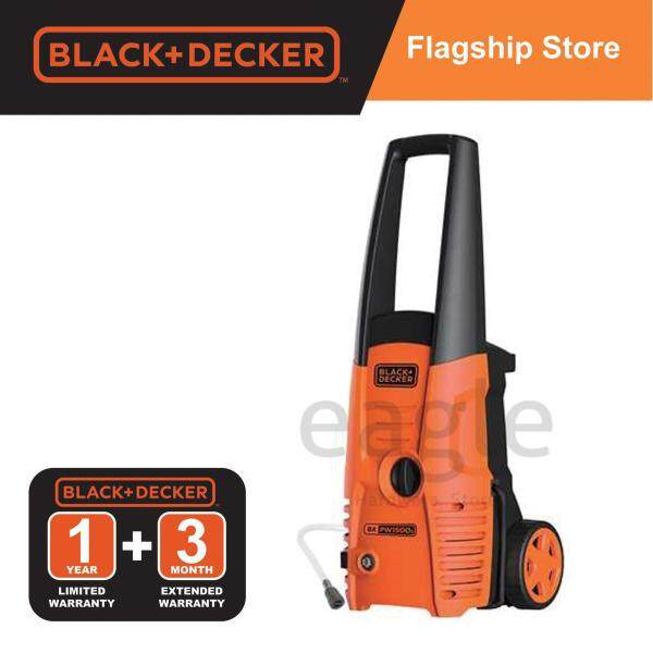 Black & Decker PW1500S-XD 1500W 120 Bar High Pressure Cleaner With Standard Accessories