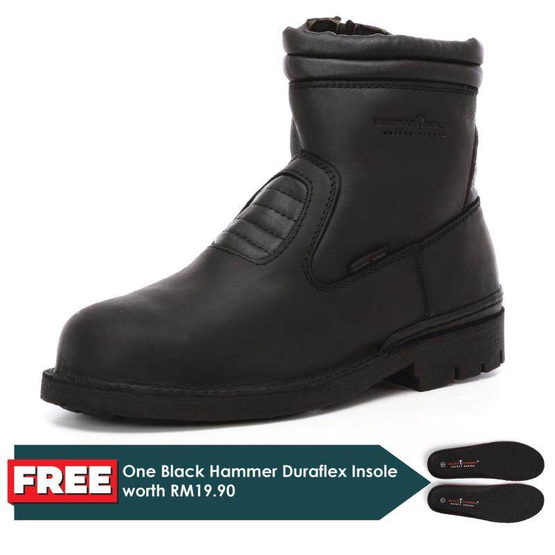 Buy Black Hammer 4000 Series Mid cut Slip on with Zip Safety Shoes (BH4202) Malaysia