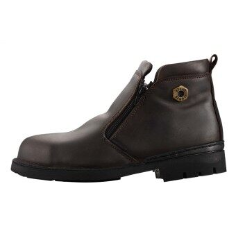 Black Hammer 4000 Series Mid cut Zip on Safety Shoes - 2