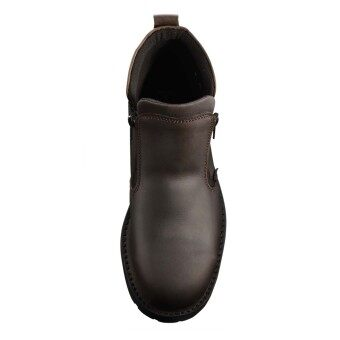 Black Hammer 4000 Series Mid cut Zip on Safety Shoes - 3