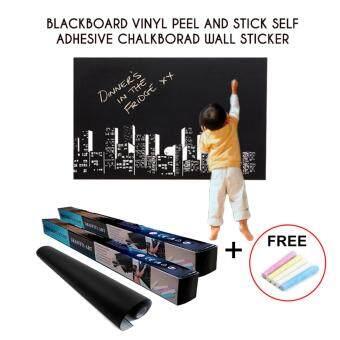 Blackboard Vinyl Peel and Stick Self Adhesive Chalkboard Wall Sticker Set of 2 (45cm x 200cm)
