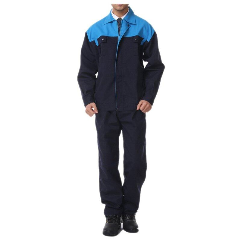 Buy Blue Shoudler Working Protective Gear Uniform Welder Jacket Int:S Malaysia