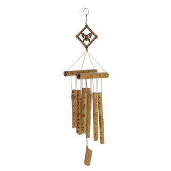 Harga BolehDeals Relaxing Bamboo Yard Garden Outdoor Living Wind ChimesWindchime Butterfly