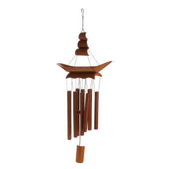 Harga BolehDeals Relaxing Bamboo Yard Garden Outdoor Living Wind ChimesWindchime Sailing