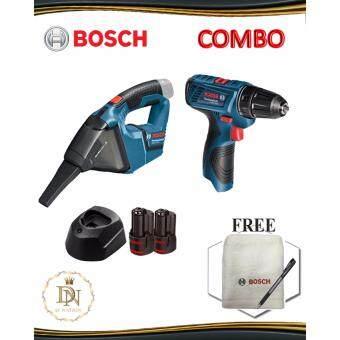Bosch 12V Combo Set GSR 120-LI Driver Drill + GAS 12V-LI Hand Vacuum Professional