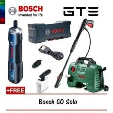 BOSCH High Pressure Cleaner EasyAquatak 120 Bar (8A7 9L0) + FREE BOSCH GO 3.6V Smart Screwdriver Solo Set (9H2 0K0) - Fulfilled by GTE SHOP