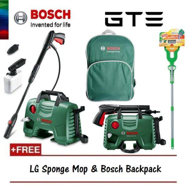 BOSCH High Pressure Cleaner EasyAquatak 120 Bar (8A7 9L0) + FREE LG Sponge Mop & Backpack - Fulfilled by GTE SHOP