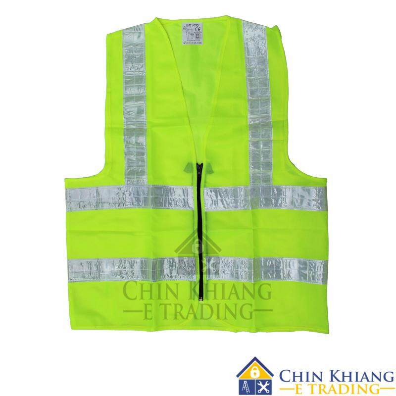 Buy Bosco VE01 Reflective Safety Vest Neon Yellow with Zip Malaysia