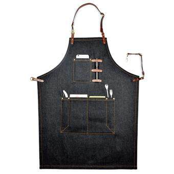 Boshiho Denim Jean Work Apron, Adjustable Shop Apron Chef Apron forMen & Women