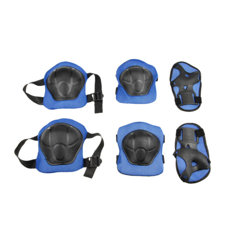 Buy Brand New Childrens Professional 6 PCS Skating Cycling Skateboard Knee and Elbow Palm Safety Pad Set Protector Knee Wrist Brace Support Blue Malaysia