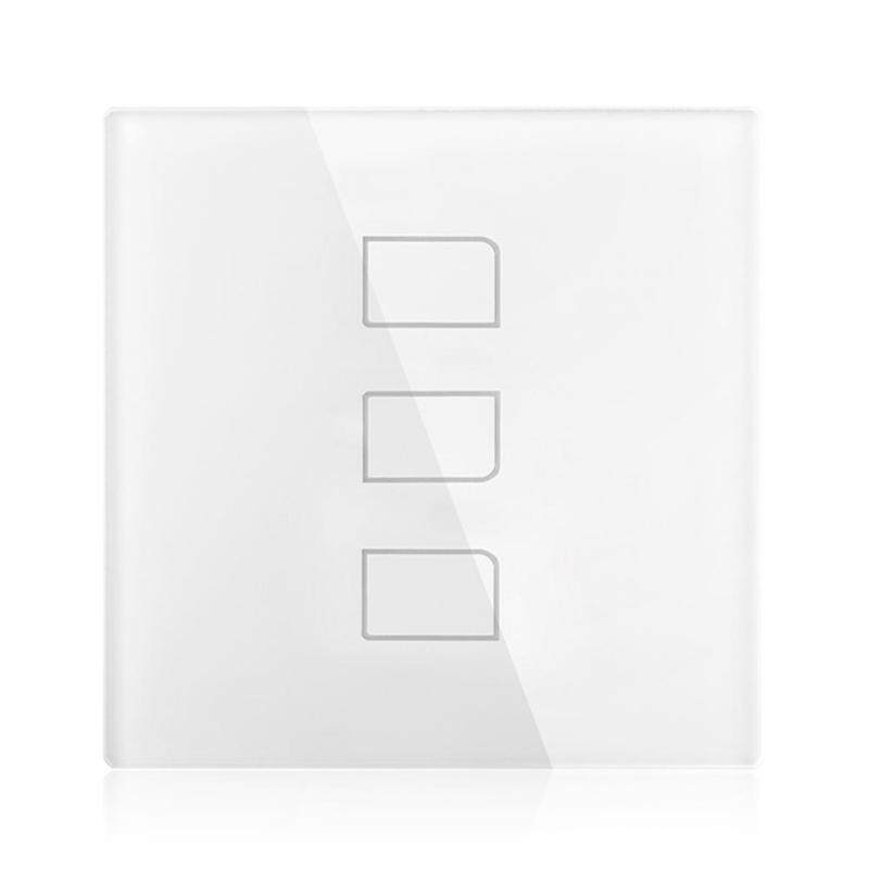 Broadlink TC2 EU Smart Home Touch Panel Light Switch 3 Channels Control (White)