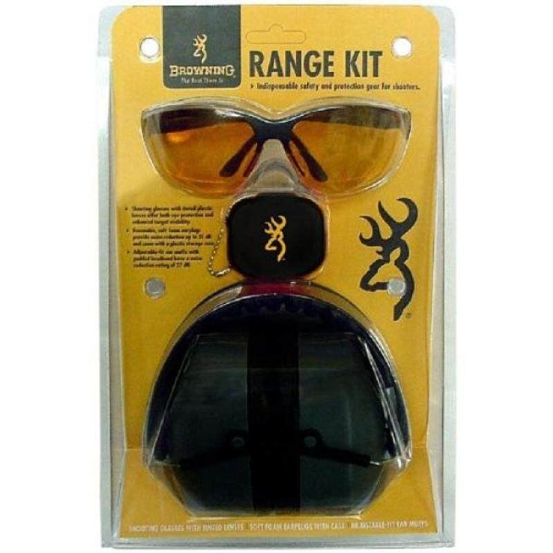 Buy Browning Range Kit Shooting Glasses, Foam Earplugs, and Adjustable-fit Earmuffs Combo Pack Malaysia