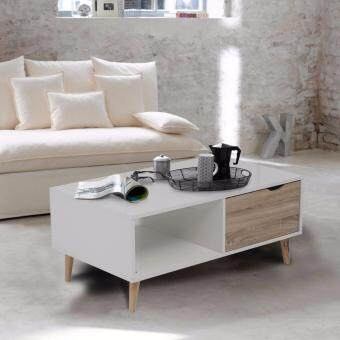 Harga Califonia Wood Home Living Coffee Table with Drawer