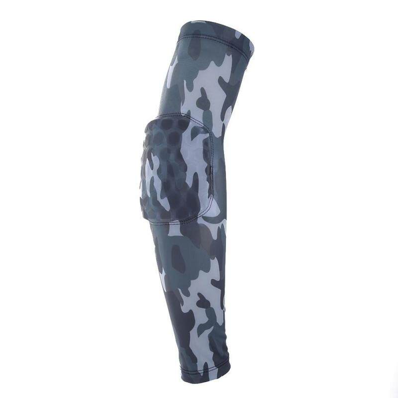 Camouflage Breathable Honeycomb Sports Pro Lengthen Elbow Support Elbowpad(Floral)-L