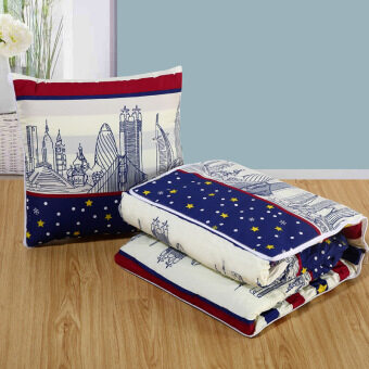 Cartoon multifunction pillow quilt dual cushion pillow coral velvetcar air-conditioning was blanket nap pillow