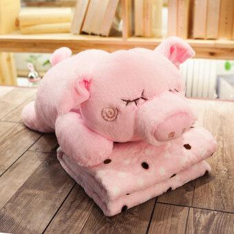 Cartoon pillow quilt dual cushion car coral velvet office air conditioning was pillow blanket nap pillow cute