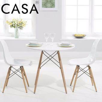 Cassa Eames Kitchen Dining Table Vogue Carpenter Round Coffee Table White Modern Leisure Wooden Tea Table Office Conference Pedestal Desk 60cm (Table Only)
