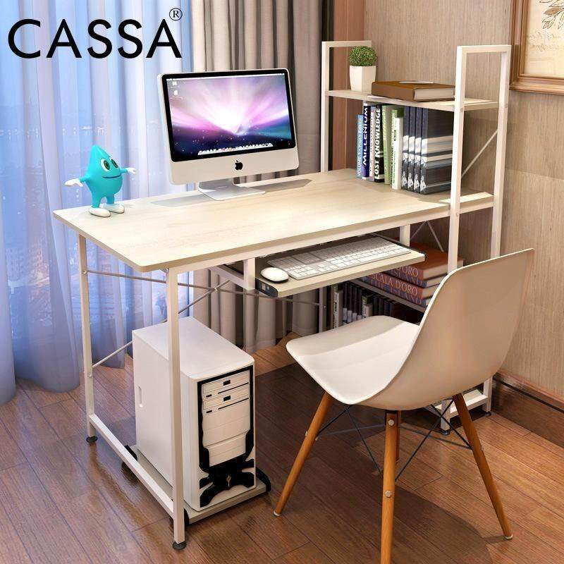 office study desk. Cassa Maple Desk 120X60CM With Book Shelf 3 Tier Office Study Table (Come Keyboard And D