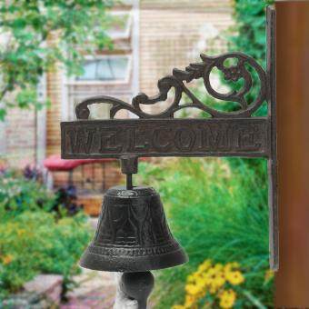 Cast Iron Vintage Style Brown Metal Door Bell Porch Garden WallMount Decoration - 5