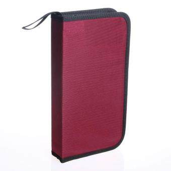 Harga CD VCD DVD 80 Discs Storage Holder Cover color:Red size:25 cm