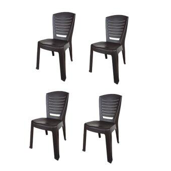 Harga Century Dinner Chair (Brown) Set of 4