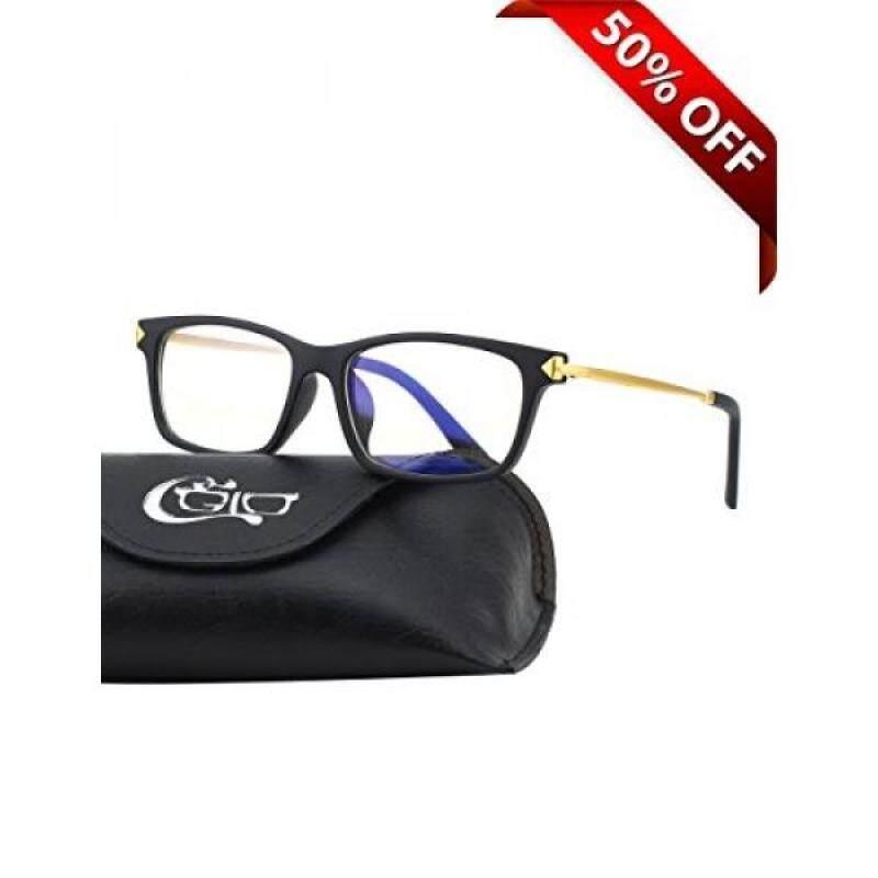CGID CT35 Premium TR90 Frame Blue Light Blocking Glasses,Anti Glare Fatigue Blocking Headaches Eye Strain,Safety Glasses for Computer/Phone/Tablets,Flexible Unbreakable Frame,Transparnet Lens