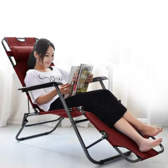 Harga Chaise Lounge Lazy Chair - RED