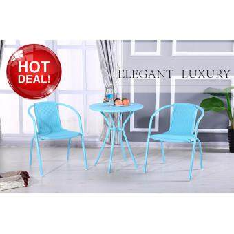 Harga Chelsea Tiffany Blue 3-Piece All-Weather Patio Bistro Garden LoungeSet