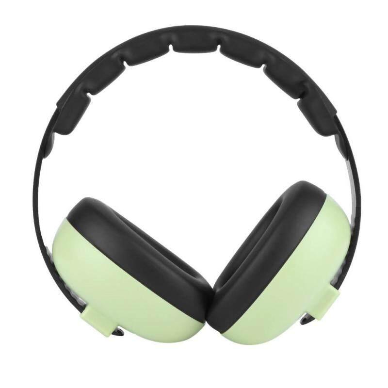 Christmas Baby Hearing Protection Noise Reduction Adjustable Headband Soft Earmuffs(Green) - intl